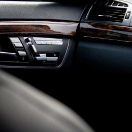 Luxury executive car interior